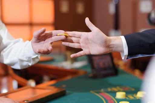 Yellow Chip in Men's Hands