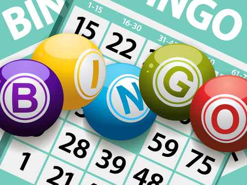 bingo balls on a card background